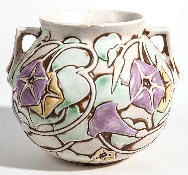 Early Roseville Morning Glory Vase