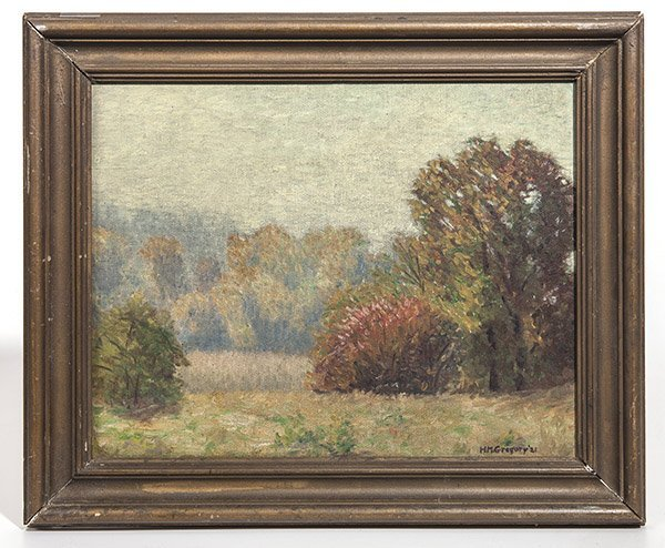 H. M. Gregory Oil Painting