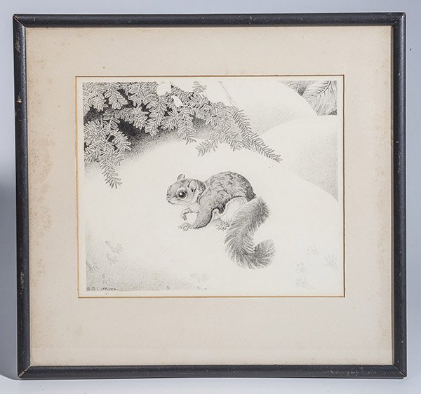 Dorothy Pulis Lathrop (Connecticut) Pencil Drawing