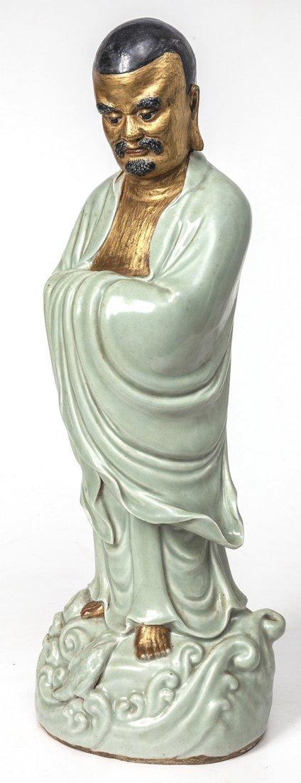 Chinese Celadon Porcelain Figure