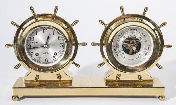 Chelsea Ship's Bell Clock & Barometer