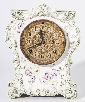 Ansonia Chicopee Porcelain Clock