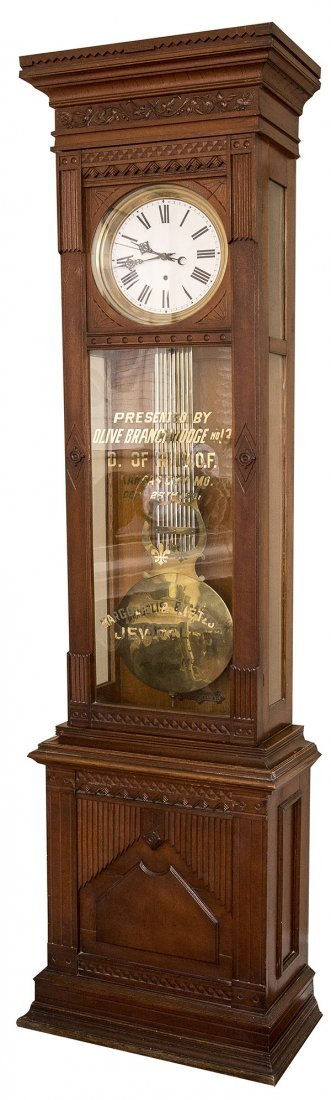 Waterbury Standing Jewelers Regulator No. 8 Clock