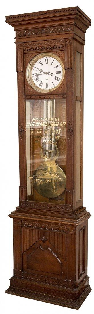 Waterbury Standing Jewelers Regulator No. 8 Clock