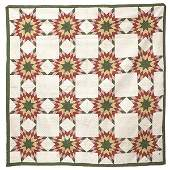 Early  8Pointed Star Pieced Quilt