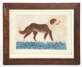 Folk Art Dog Portait
