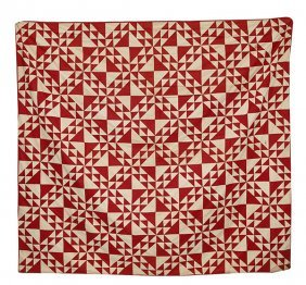 Flying Geese Pieced Quilt