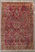 Semi-Antique Sarouk Persian Oriental Rug