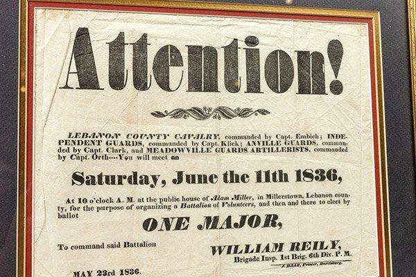 1836 Pennsylvania Militia Broadside - 4