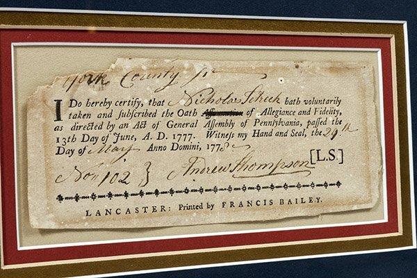 Revolutionary War Pa. 1777 Oath of Allegiance - 3