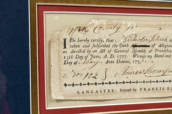 Revolutionary War Pa. 1777 Oath of Allegiance - 4