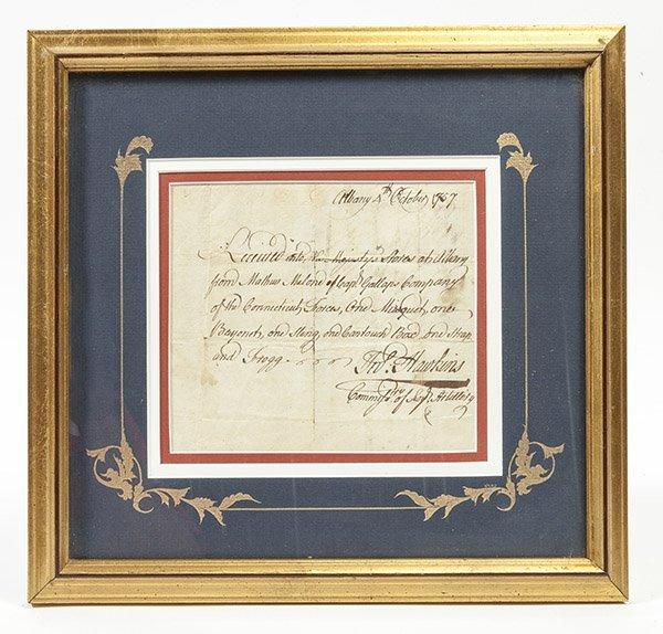 French & Indian Wars N.Y. Ms Militia Document
