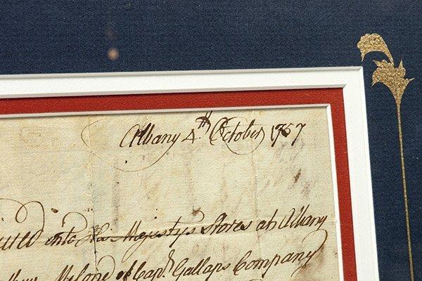 French & Indian Wars N.Y. Ms Militia Document - 4