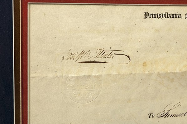 Penn. Militia Appointment Signed by Gov. Hiester - 4