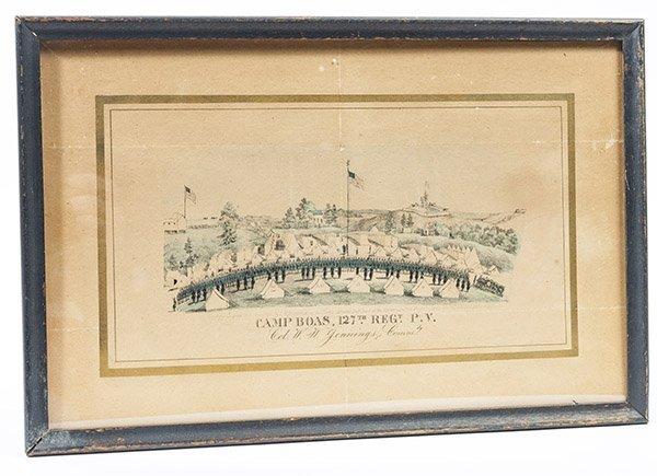 Civil War Lithograph Camp Boas 127th Regt. P.V.