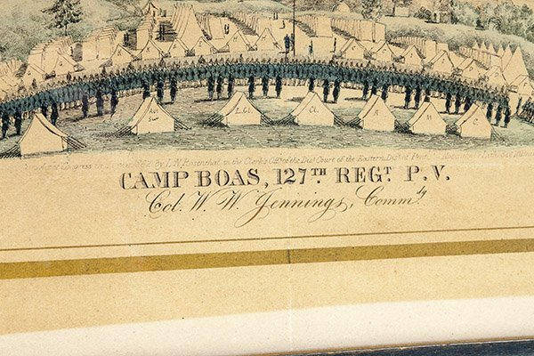 Civil War Lithograph Camp Boas 127th Regt. P.V. - 2
