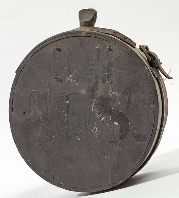 Captured Confederate Wooden Canteen