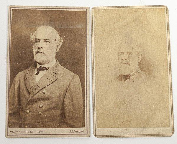 Two Albumen CDV Photos of R.E. Lee