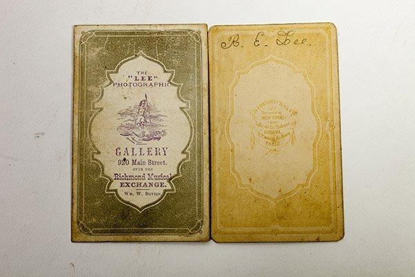 Two Albumen CDV Photos of R.E. Lee - 2