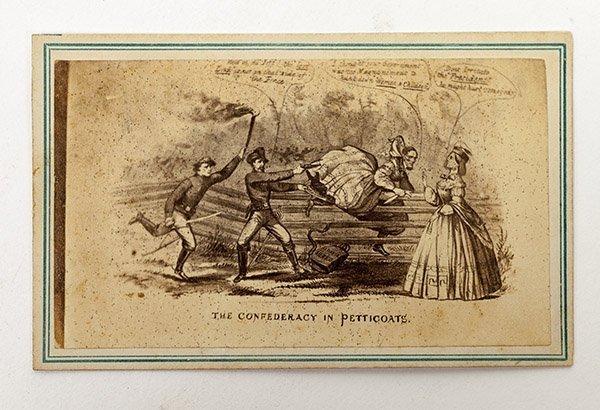 Comic CDV of Capture of Jefferson Davis