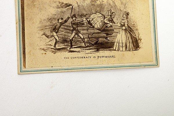 Comic CDV of Capture of Jefferson Davis - 2