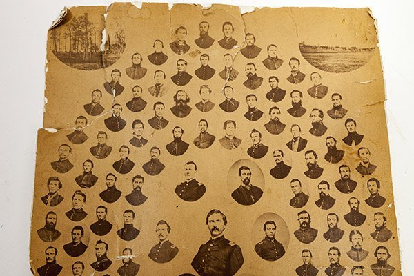Albumen Photograph of 7th Wisconsin Light Artillery, - 2