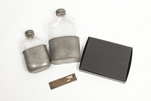 Civil War Era Flasks & Memorial Plaque - 4