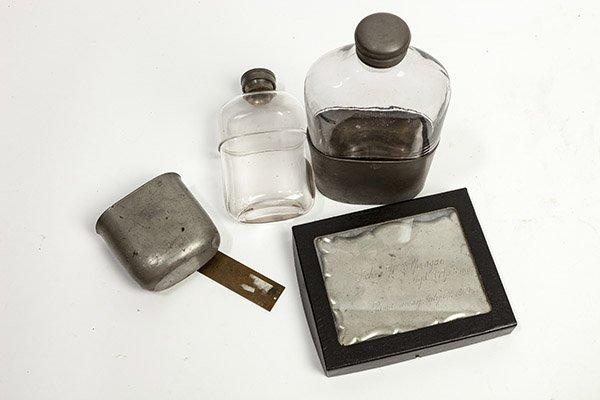 Civil War Era Flasks & Memorial Plaque - 5