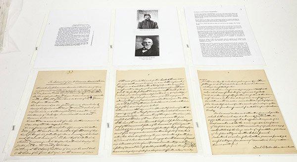 Civil War Manuscript Account of Lt. Francisco Marshall