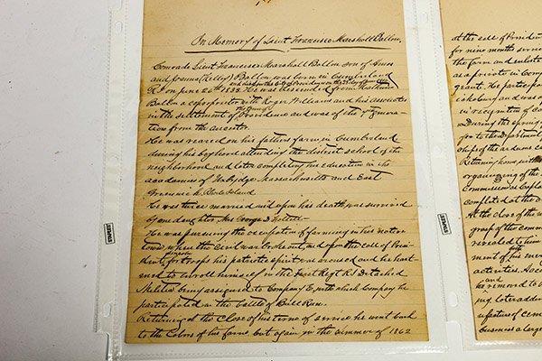 Civil War Manuscript Account of Lt. Francisco Marshall - 2