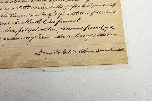 Civil War Manuscript Account of Lt. Francisco Marshall - 5