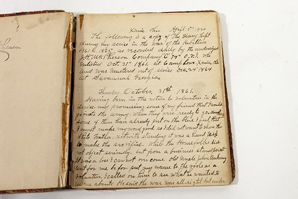 John H. McPherson 74 OVI Civil War Diary - 2