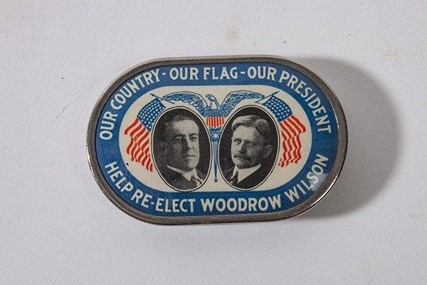 Rare Tin & Celluloid Woodrow Wilson Donation Bank - 3