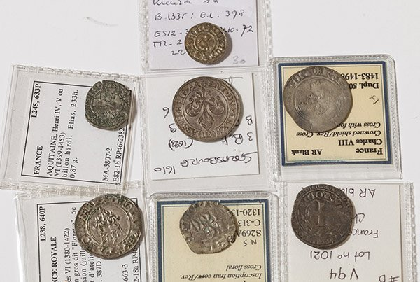 Lot of 7 France Medieval Coins