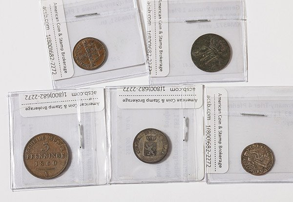 Lot of 5 German Coins