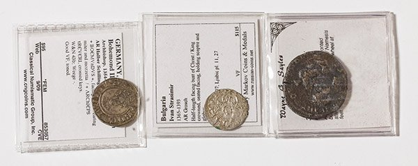 2 Medieval & 1 Ancient coin