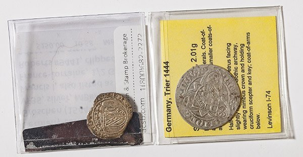 2 Germany Medieval Coins