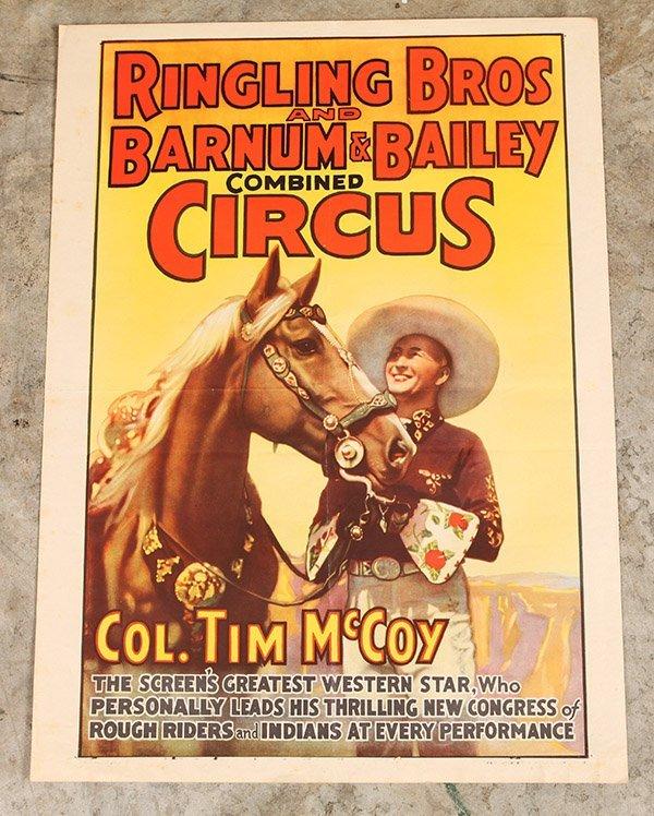 Ringling Bros. Tim McCoy Western Circus Poster