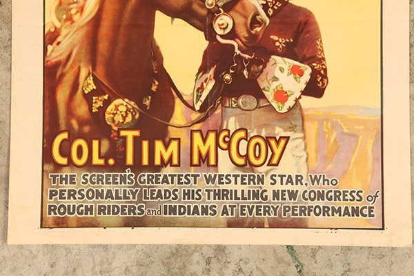 Ringling Bros. Tim McCoy Western Circus Poster - 2