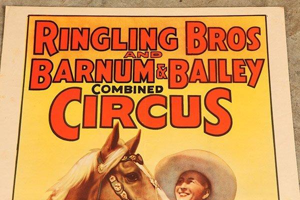 Ringling Bros. Tim McCoy Western Circus Poster - 3
