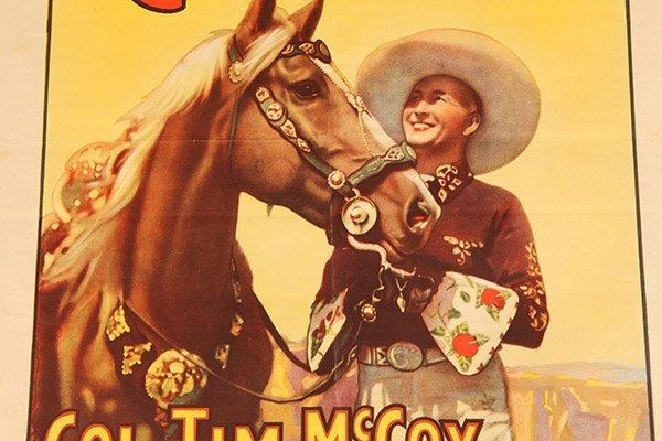 Ringling Bros. Tim McCoy Western Circus Poster - 4