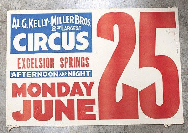 Al G. Kelly & Miller Bros. Circus Poster