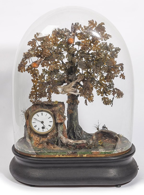Domed Musical 5 Bird Automaton Clock