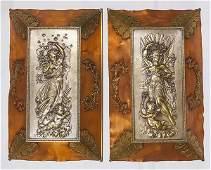 Scarce Asonia Brass  Copper Wall Plaques
