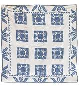 Early Pieced  Appliqued Quilt