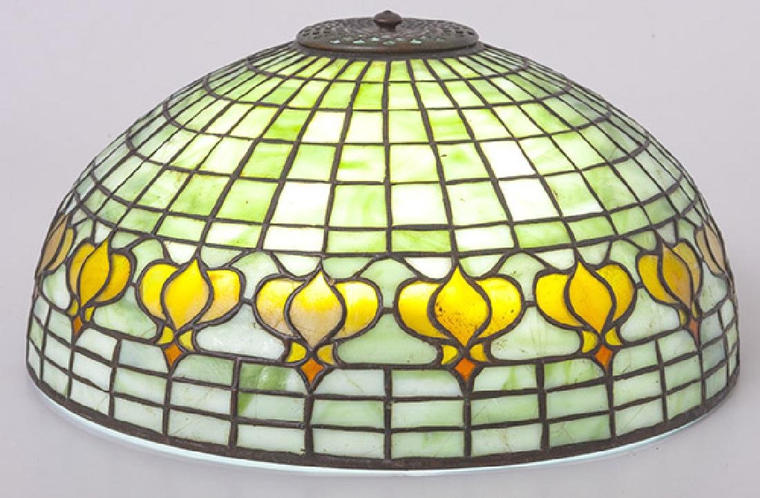 Tiffany Pomegranate Leaded Glass Shade
