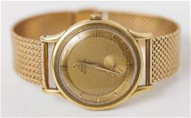 Mens Omega Automatic 18k Gold Wrist Watch