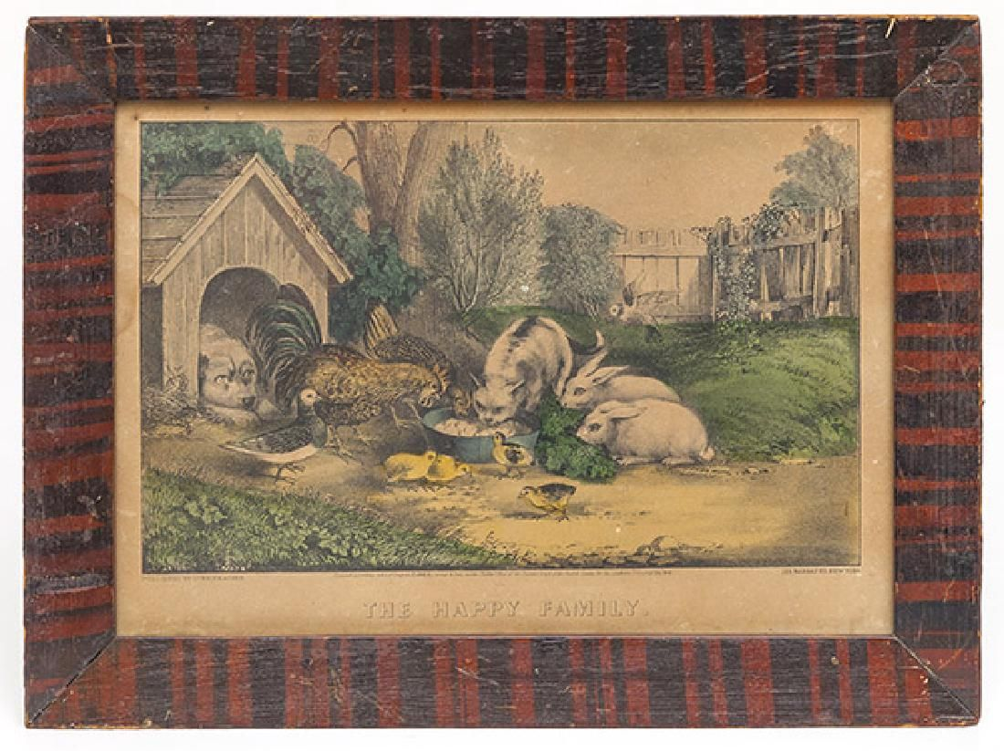Currier & Ives In Painted Frame