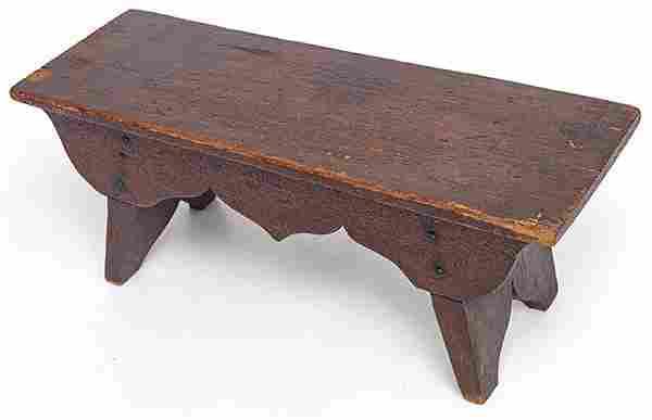 Early Folk Art Foot Stool