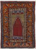 Semi-Antique Oriental Prayer Rug